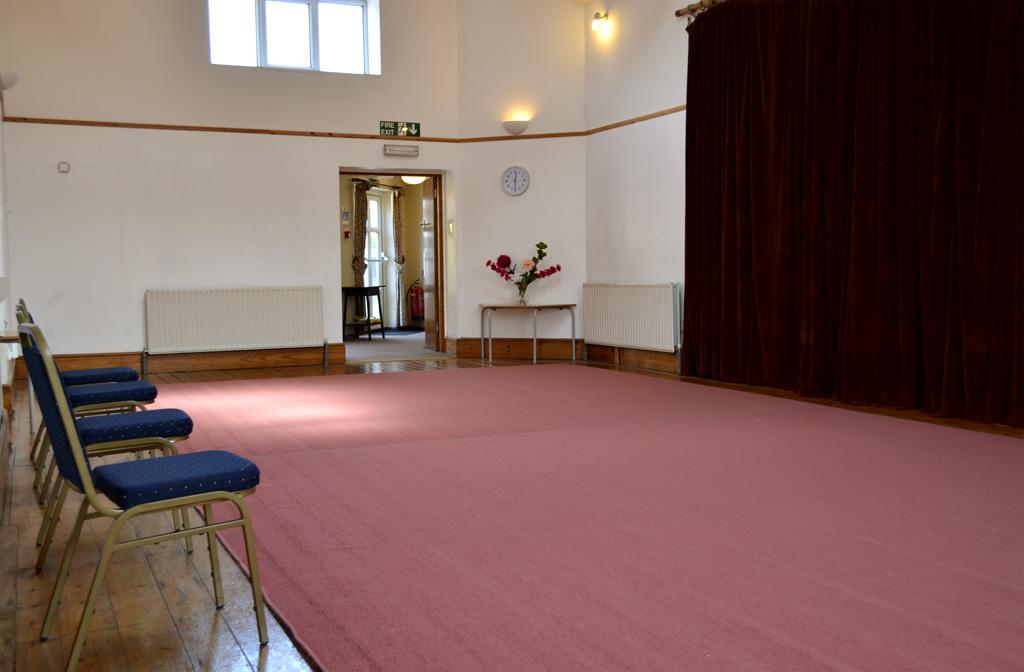 Hall 1: 40′ x 18′ (12.0 x 5.4 metres)